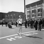 Amby Burfoot winning the Boston Marathon