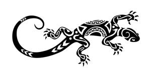 Maori Lizard Tattoo