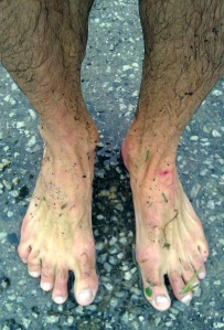 Trail race feet